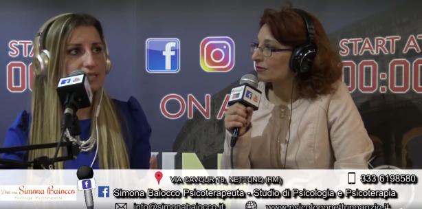 Intervista RadioRadio a Simona Baiocco Psicologo Nettuno Anzio