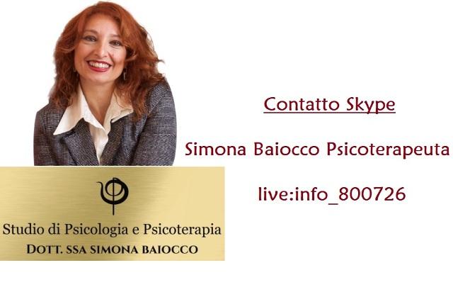 Contatto Skype Simona Baiocco Psicoterapeuta